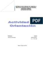 Actividad de Orientación
