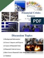 Financial Crisis of  Greece