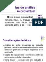 Estratégias de análise microtextual Aula 2