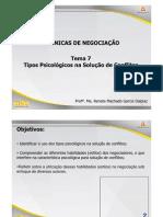 ADM Tecnicas de Negociacao Tema 7 Slides