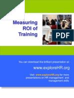 21372659 Measuring ROI of Training