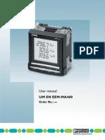Manual Medidor de Energia MA400