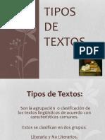 Disertacion Tipos de Textos