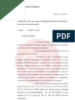 Fallo Juez Federa La Plata LAberto Recondo