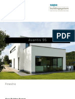 Avantis 95 - Finestre in alluminio per casa passiva - Sapa Building System
