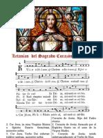 LETANÍAS AL SAGRADO CORAZÓN DE JESÚS (FOLLETO BILINGÜE PDF CON PARTITURA)