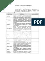 EJERCICIOS DE PLANEACIÓN ESTRATÉGICA
