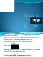 Lesson 2 - Variables and Data Type