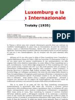 Trotsky - Rosa Luxemburg e La Quarta Internazionale