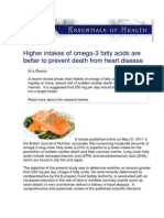 USANA Essentials of Health - Higher intakes of omega-3 fatty acids are better to prevent death from heart disease