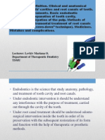 4 Endodontics. Definition.methods of Medical and Instrumental Treatment of Root Canals