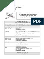 5-28-13 Travel Itinerary Miami