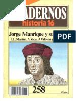 Historia 16 (1985) - Ch258 - Jorge Manrique Y Su Epoca