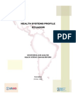 Health System Profile-Ecuador 2008