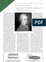 Mozart, el gran arquitecto de la música, por Antonia Pilar Chinchilla