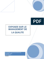 Le Management de La Qualite