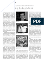 Roque Baños López, por Francisco Soriano