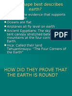 Proof of Earth's Shape and Size