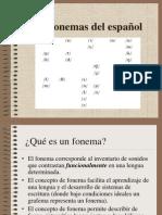 Fonemas del español.