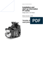 Installation & Start Up of Axial Piston Pump
