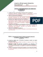 Cuestionario oficial Derecho Económico; 2C