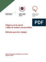 Mujeres en La Carcel e Hijos de Madres Encarceladas