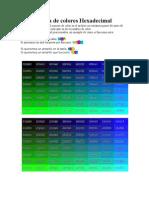 Colores en Hexadecimal
