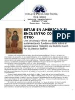 ESTAR EN AMÉRICA Y EL ENCUENTRO CON EL OTRO