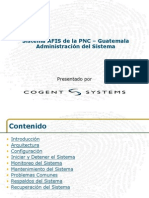 GUAT AFIS System Administration Trainig