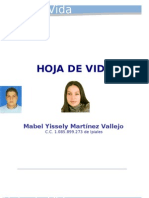 Hoja de Vida Mabel Martinez