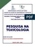 Trabalho Prescrito Puc Go - Atualidades Toxicologia Atz Jun 2013bk
