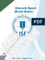 Shuttlecock Rules