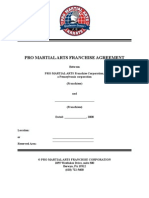 2008 PRO MARTIAL ARTS Franchise Agreement