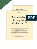 Maurice Lagueux - Merleau_ponty Et Saussure