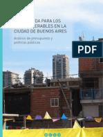 Sin Vivienda Para Los Mas Vulnerables en La Ciudad de Buenos Aires