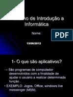 Trabalho de Introdução a Informática