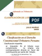Derecho Tributario Clasificacion de Los Tributos