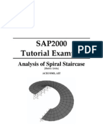 Spiral Staircase in sap2000