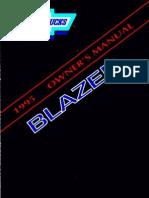 Manual Blazer 95