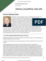 Mészáros, I. - La teoría económica y la política. más allá del capital