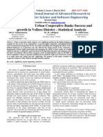 A Study on the Urban Cooperative Banks Success and Growth in Vellore District