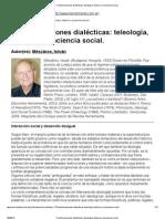 Mészáros, I. - Transformaciones dialécticas teleología, historia y conciencia social.