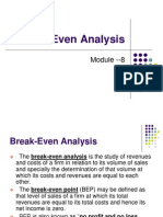 Module-8 Break Even Analysis