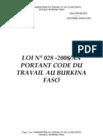 Burkina - Code Travail