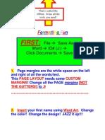 Formatting a Word Document