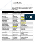 job skills checklist page 1