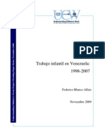 Trabajo Infantil en Venezuela_1998-2007