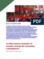 Noticias Uruguayas Jueves 6 de Junio Del 2013