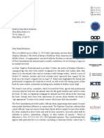 Kids' Right to Read Project Letter Re