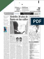 20 años de llanto en Medellin (El Colombiano prensa 2002)